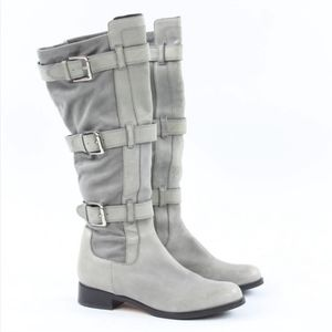 COLE HAAN NIKE AIR AVALON TRIPLE STRAP GRAY BOOTS
